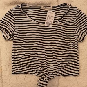 Forever 21striped crop top
